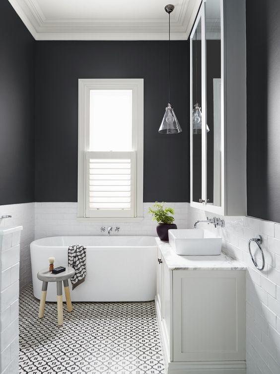 7 Amazing Patterned Tile Bathroom Floors - Pink Peppermint Design