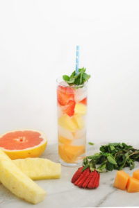 Infused Water Recipe: Strawberry Canteloupe Pineapple