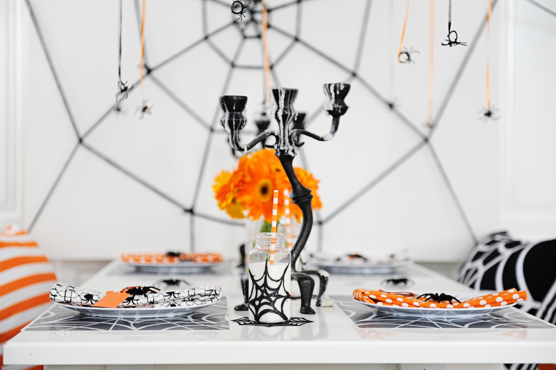 Modern Spider Themed Halloween Party - Pink Peppermint Design