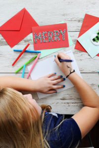 Season's Greetings with Handwritten Notes and Hallmark Signature