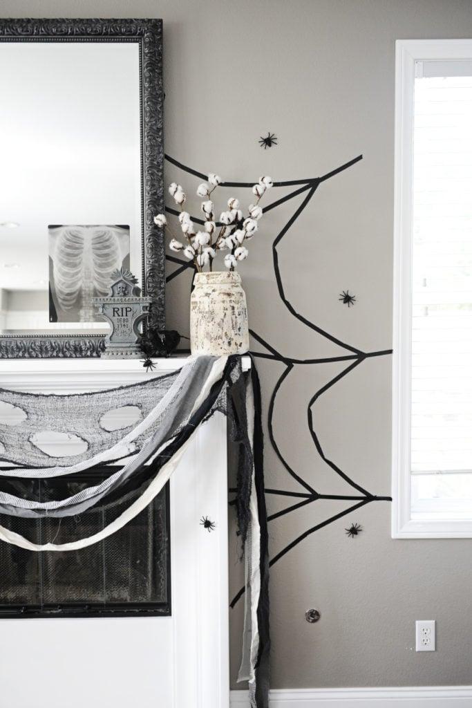 DIY Washi Tape Spiderweb by Tammy Mitchell