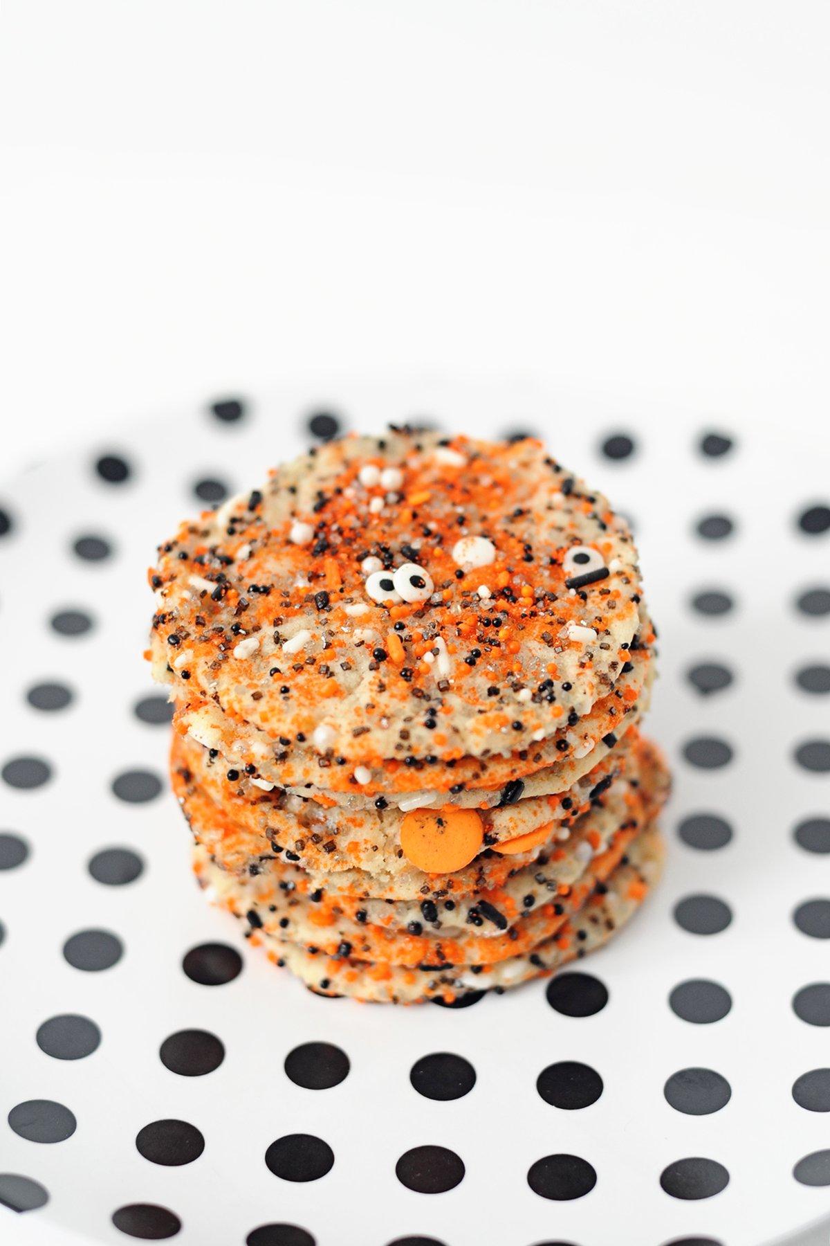 Halloween sprinkle cookies 3