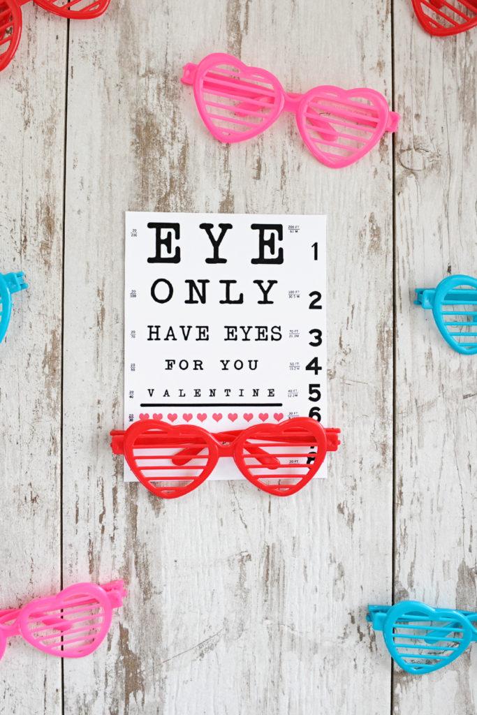 diy valentines eye chart valentine