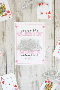 DIY Valentine's Day Cards : Free Printable Queen of Hearts Valentine
