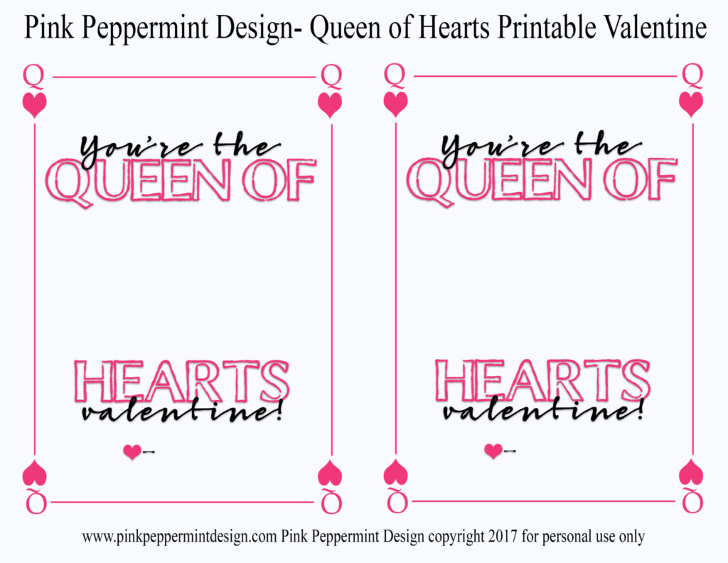 queen of hearts valentine