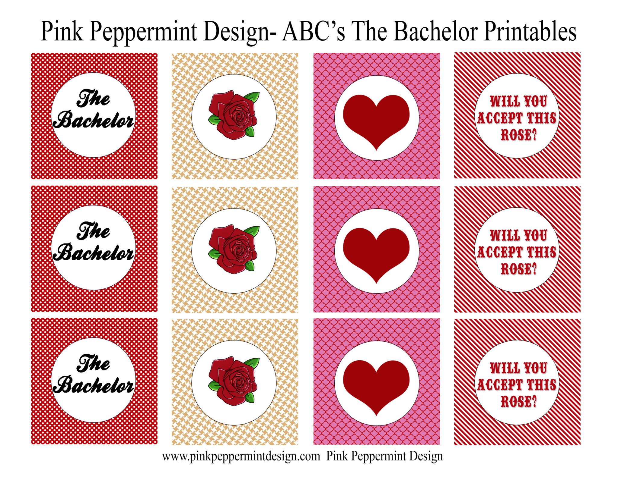 The Bachelor : Updated Free Bachelor Printables for your Bachelor ...