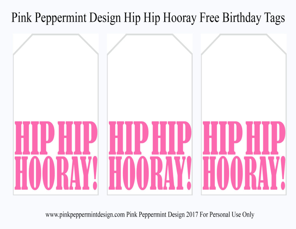 free printable birthday tags
