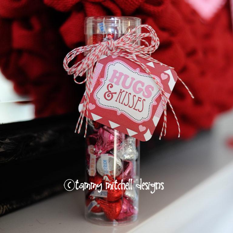 hugs and kisses free valentine printable