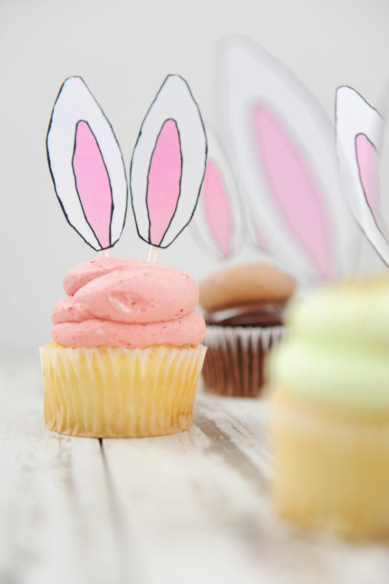 Bunny ear cupcakes 1