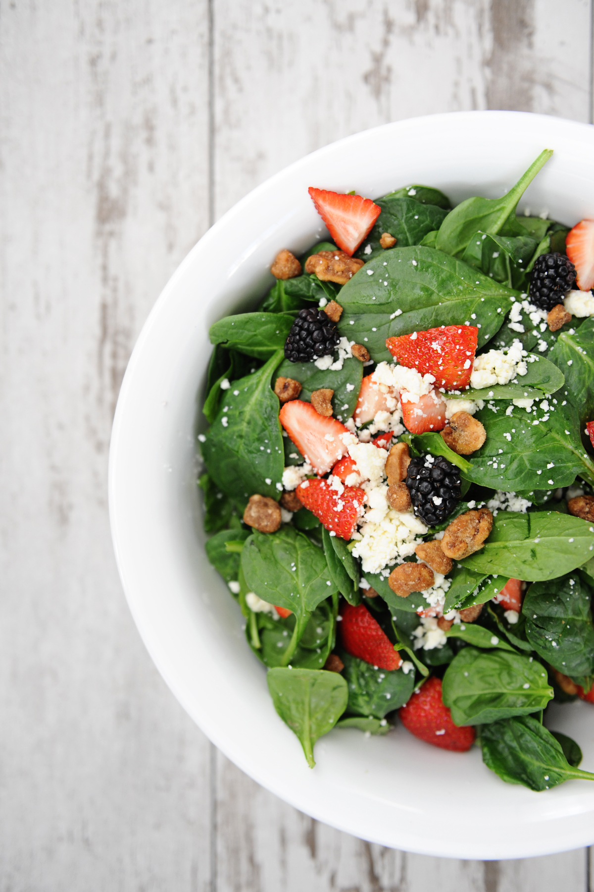 Spinach and strawberry salad 4
