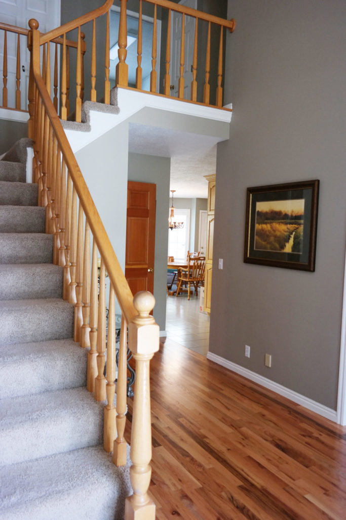 Here I Am Standing In The Entry Way At Front Door Looking Up Stairs Everything This Space Is Getting A Major Makeover