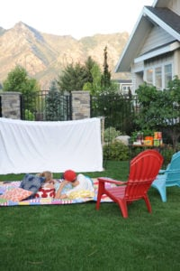 outdoor movie night party
