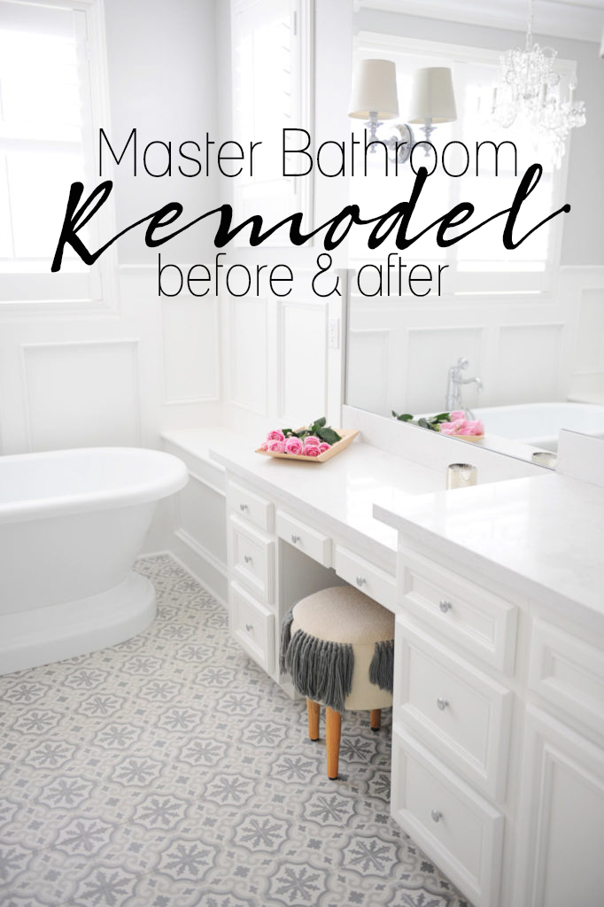 Master Bathroom Remodel Before And After Pink Peppermint Design - Bathroom remodel before and after pics