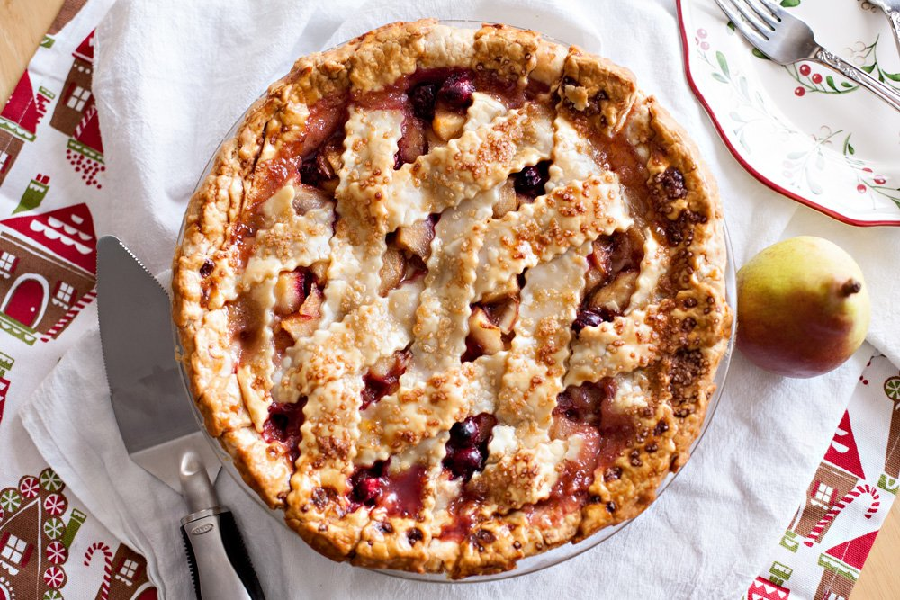pear cranberry almond pie recipe