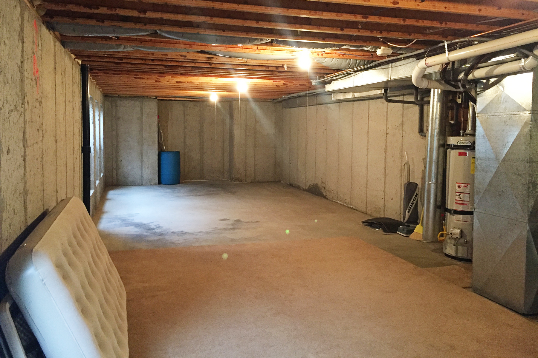 1987 Fixer Upper Basement Remodel Before And After Pink