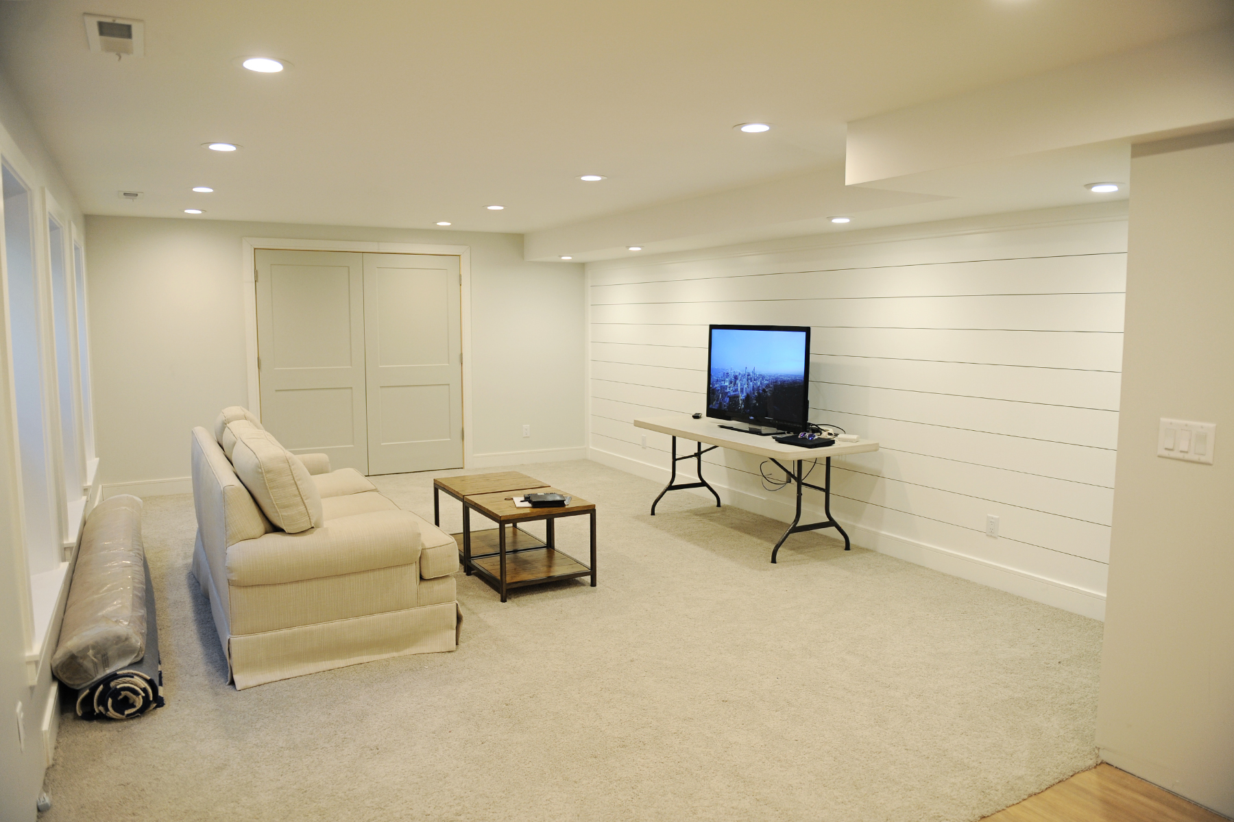 basement renovation before and after