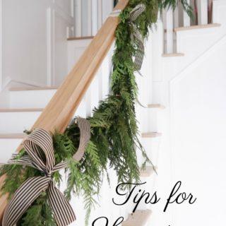 Tips for hanging a garland