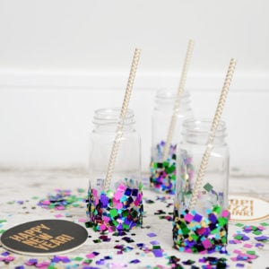 diy party ideas confetti bottles