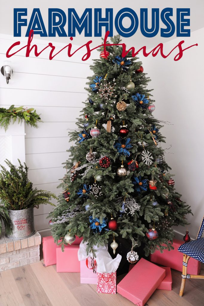 12 Bloggers of Christmas with Balsam Hill : Our Farmhouse Christmas Tree