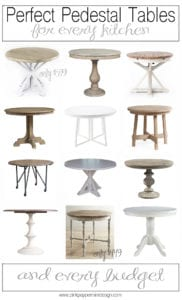 Pedestal Tables for Every Kitchen and Every Budget