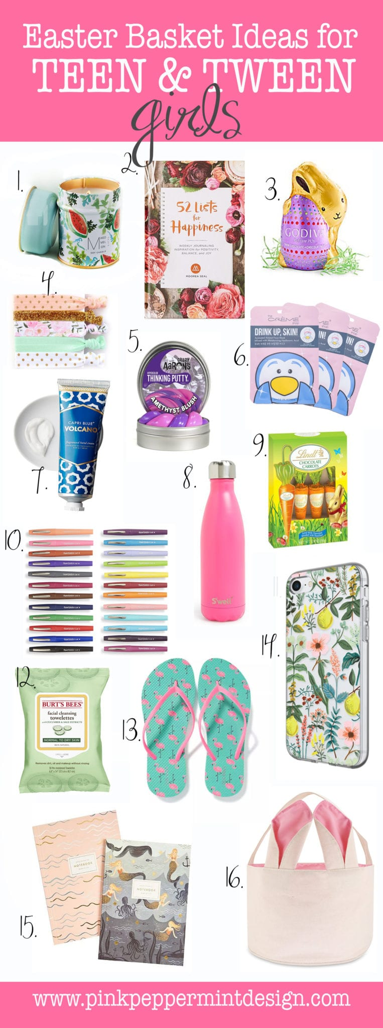 The best easter basket ideas for a teenage girl and tweens pink easter basket ideas for teenage girl negle Images