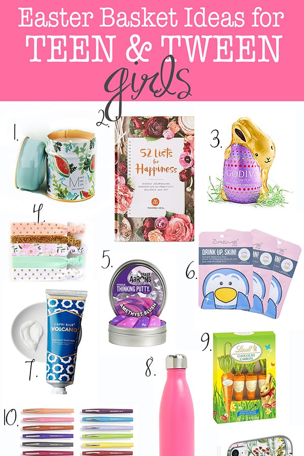 The best easter basket ideas for a teenage girl and tweens pink the best easter basket ideas for a teenage girl and tweens pink peppermint design negle Choice Image