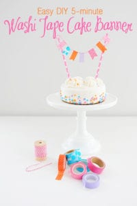 Washi Tape Craft Ideas : Easy DIY Washi Tape Cake Banner