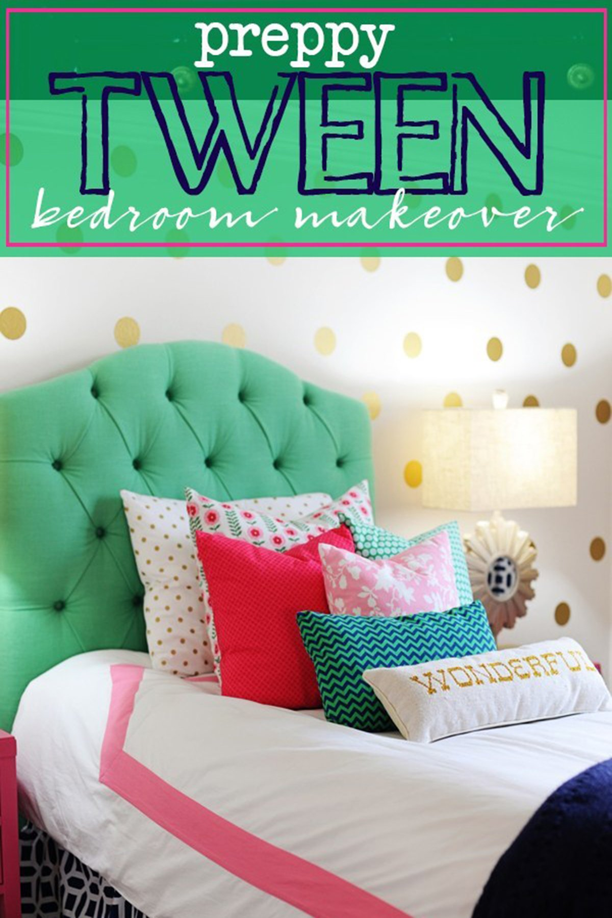 Preppy teen bedroom decorating ideas