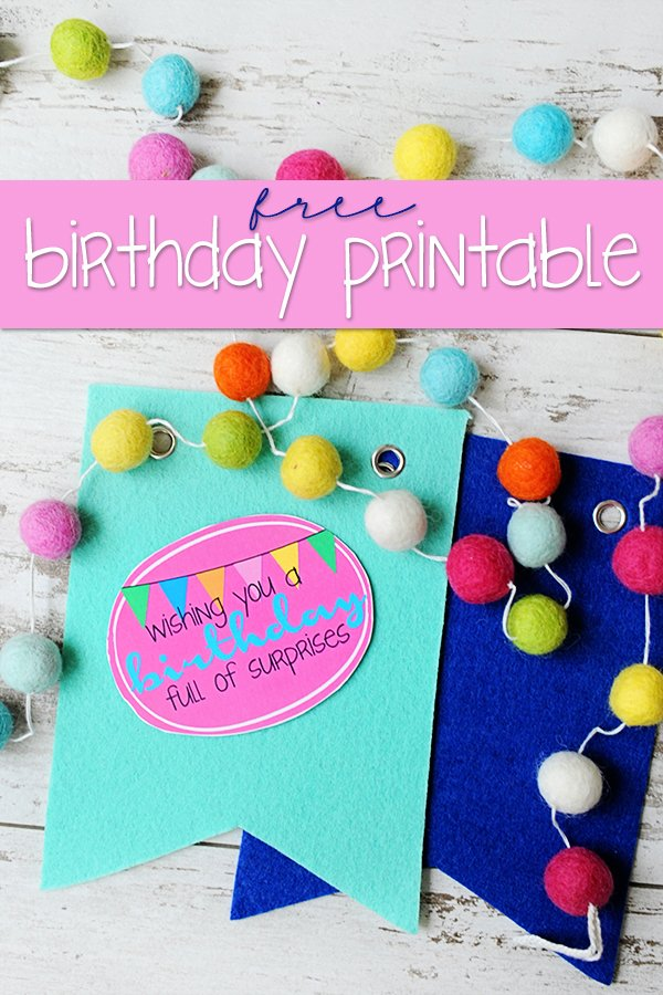 free printable birthday labels and tags