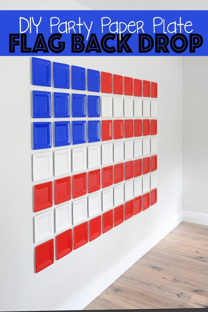 Amazing DIY 4th of July Easy Party Backdrop Idea