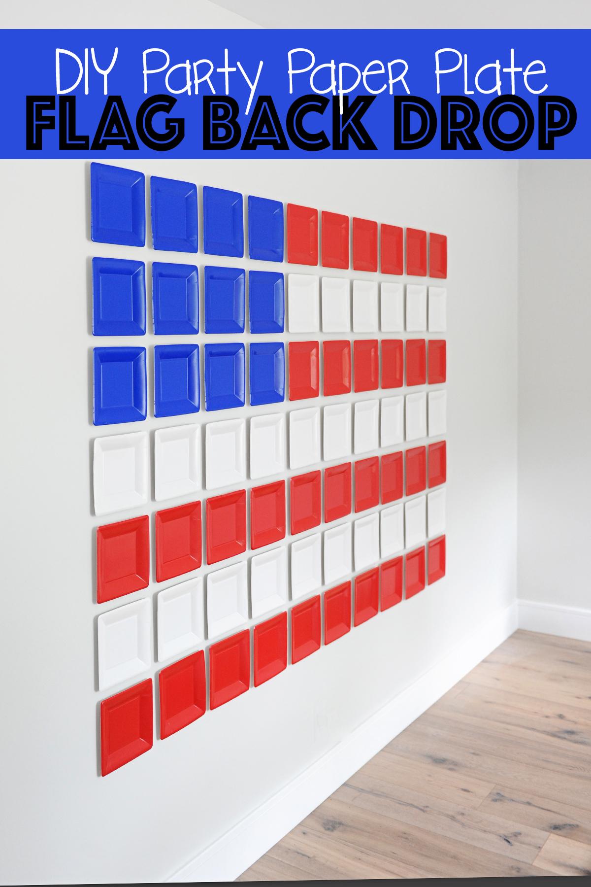 diy patriotic party backdrop idea