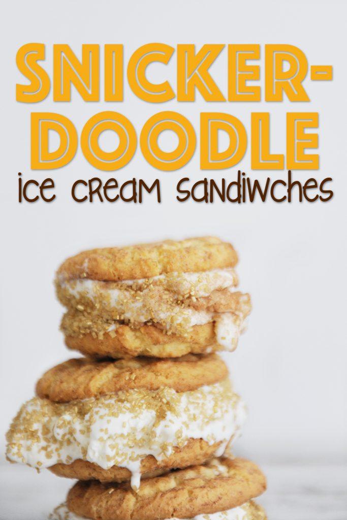 The Most Delicious Snickerdoodle Ice Cream Sandwich Recipe