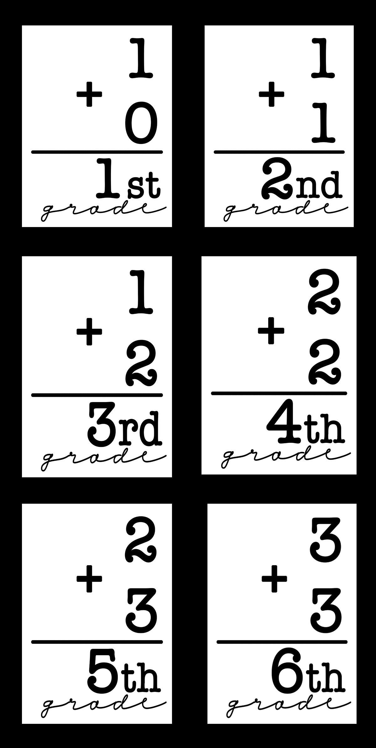 Free back to school printable flashcards