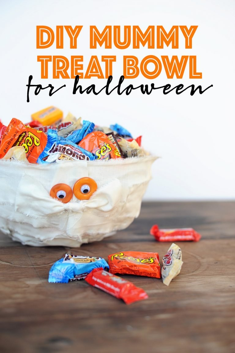 Diy mummy treat bowl