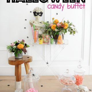 diy halloween candy buffet