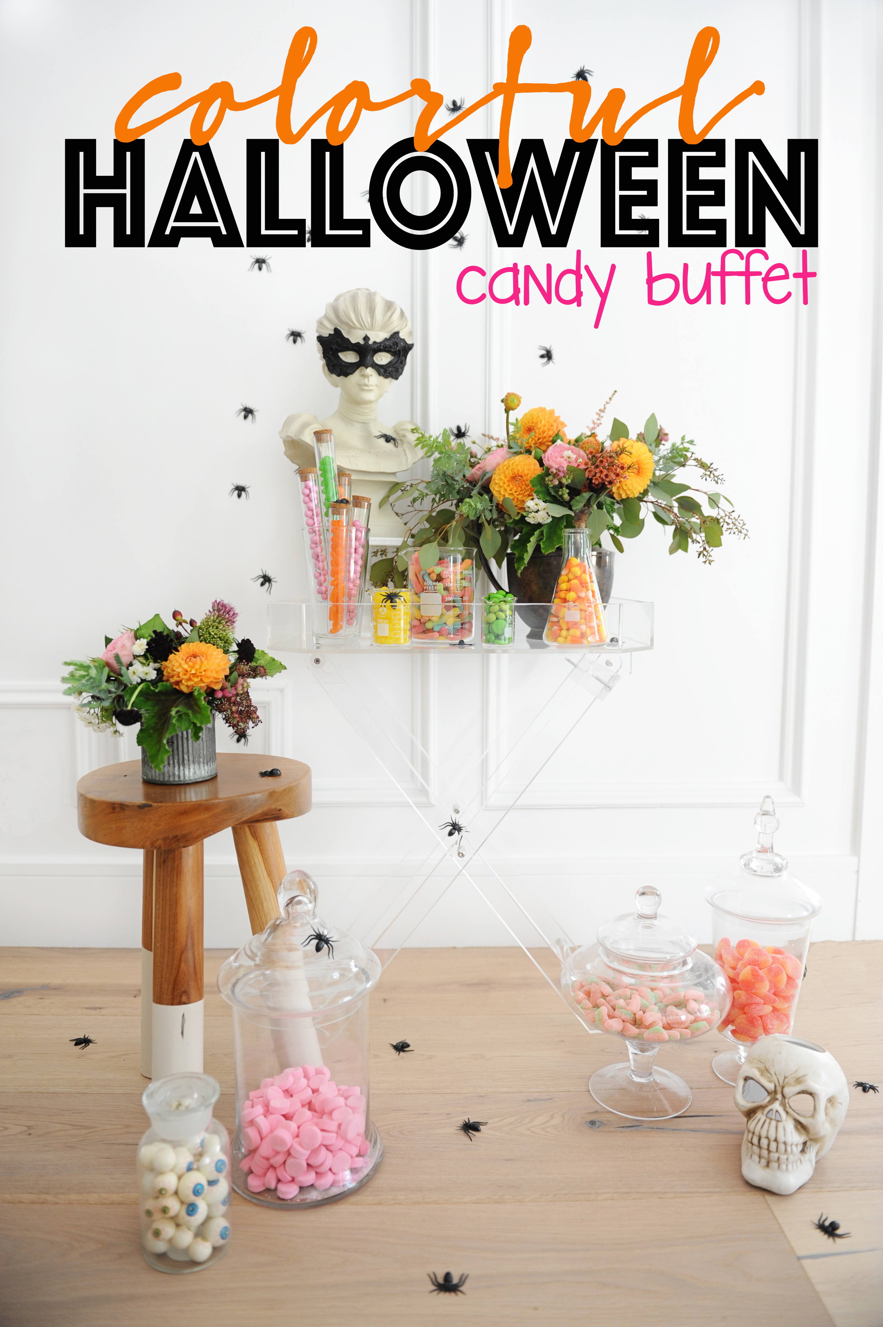 diy halloween candy buffet