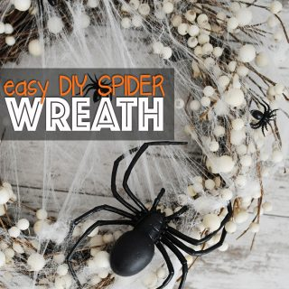 DIY Spider Wreath