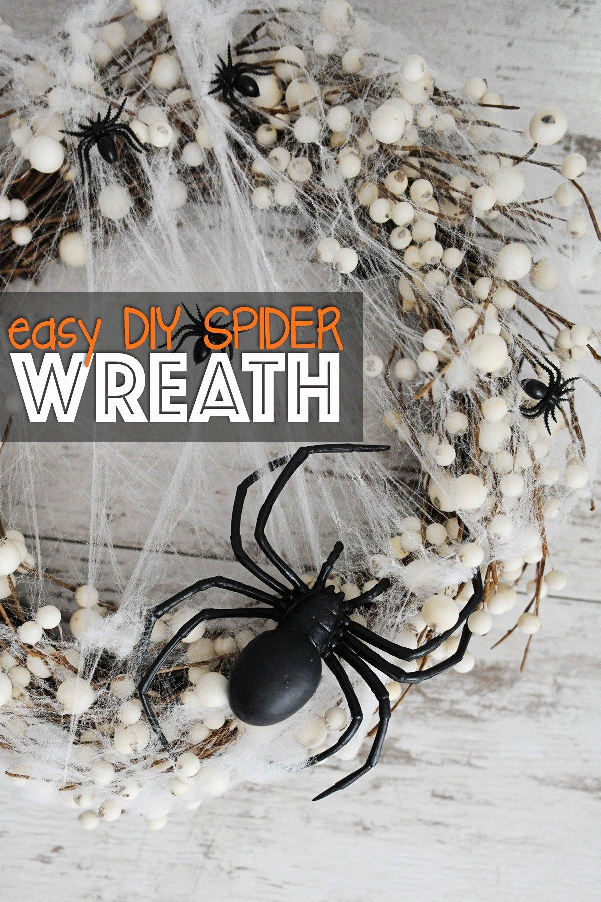 Spider wreath diy 1