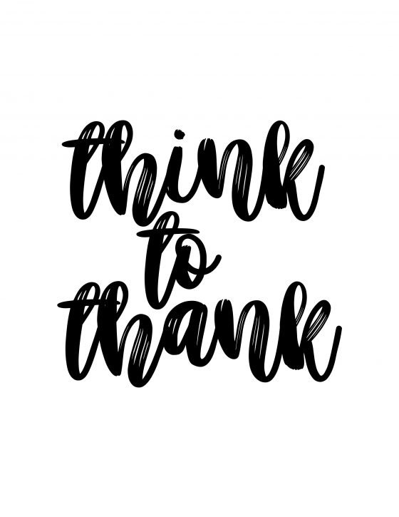 Think to thank