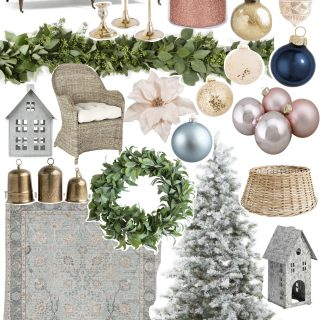 Christmas living room design plan