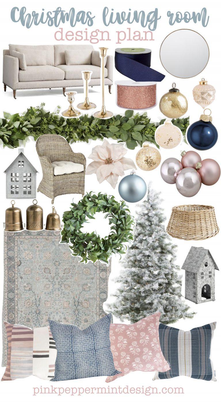 Christmas living room design plan