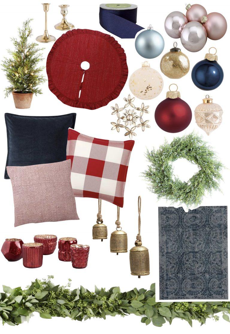 Family room christmas design plan