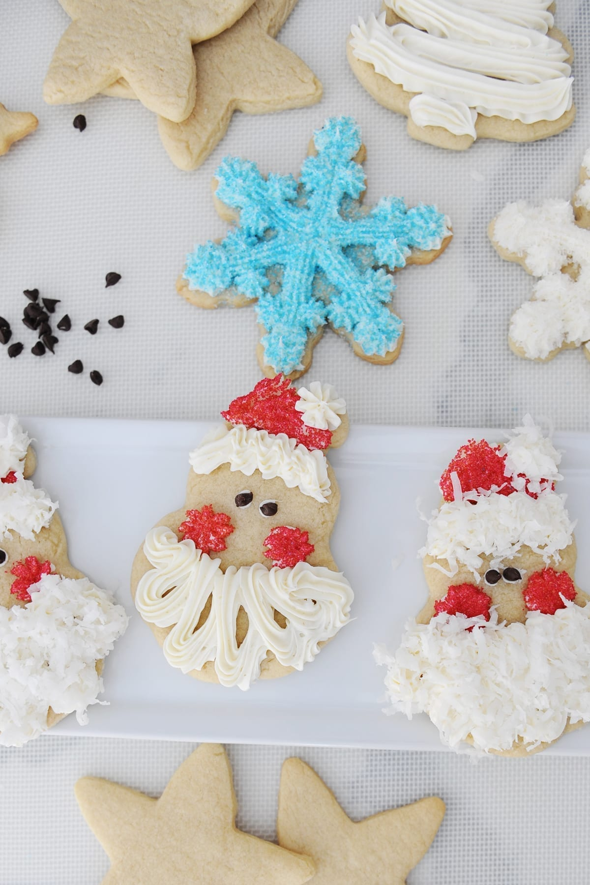 Diy santa christmas cookies