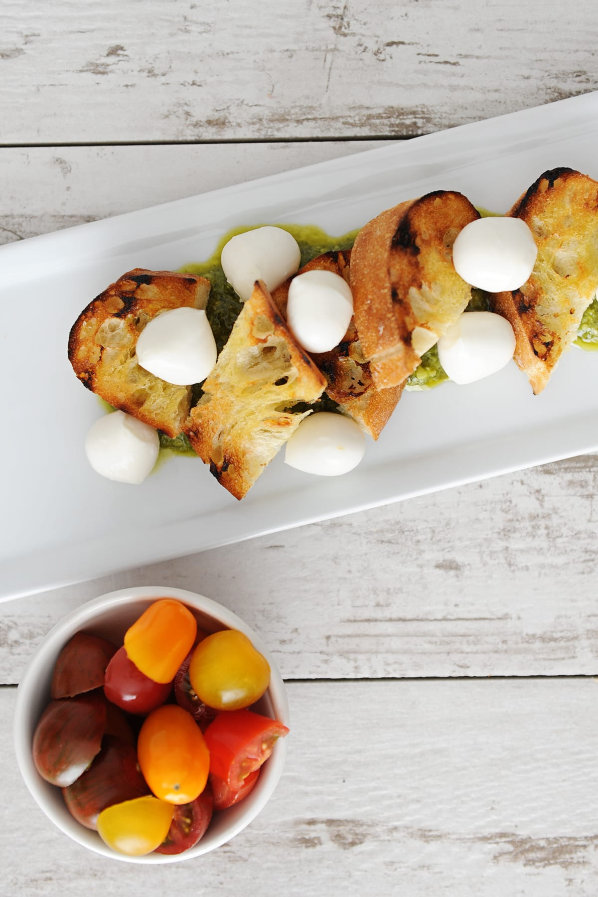 Easy burrata and heirloom tomatoes appetizer recipe step 2