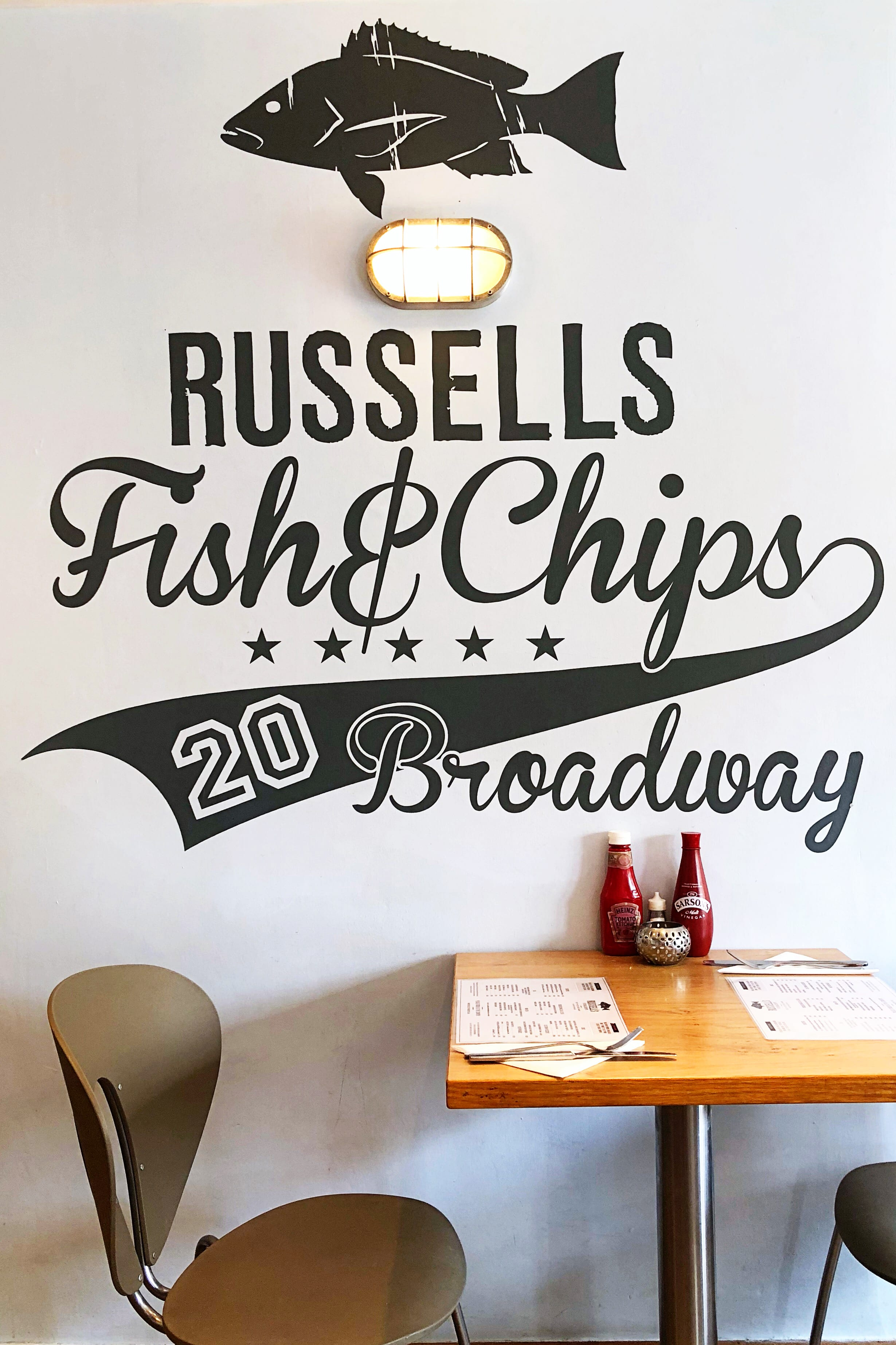 Russells fish and chips