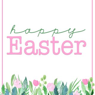 Happy easter printables