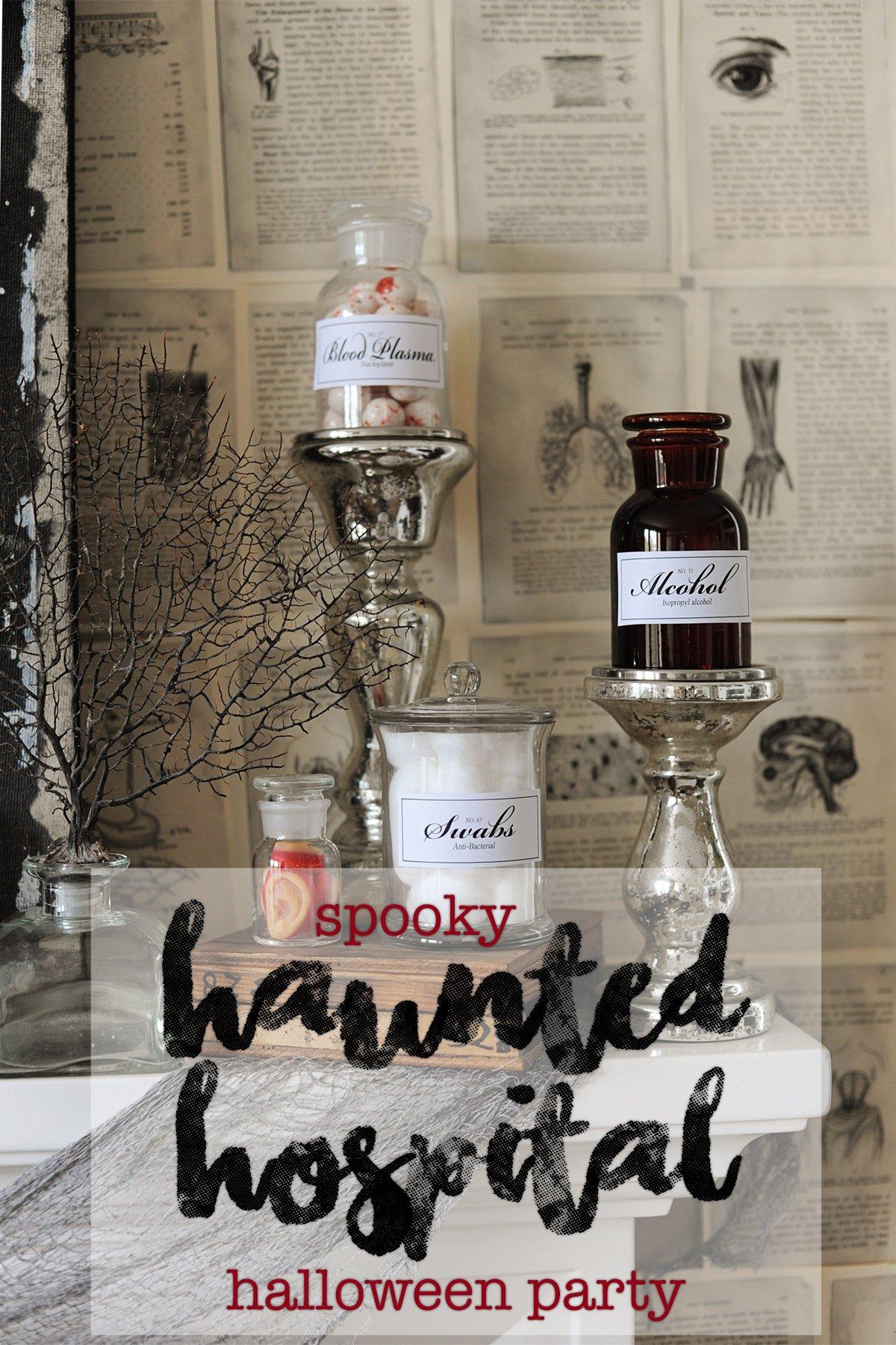 Haunted hospital halloween party