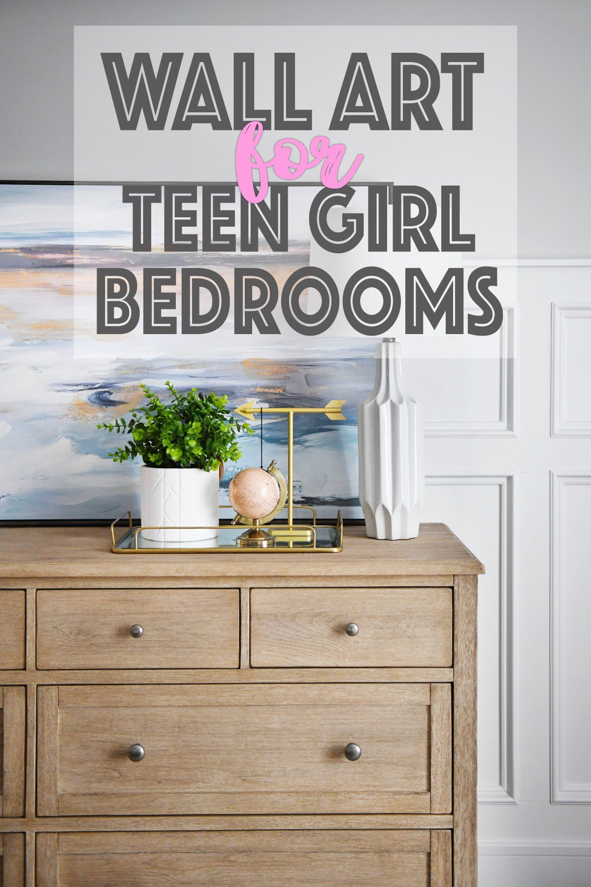 Wall Art For Teenage Girl Bedrooms Pink Peppermint Design