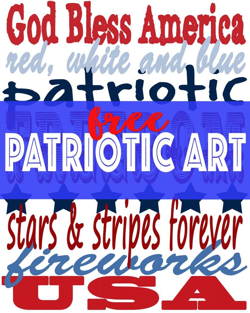 Free patriotic art