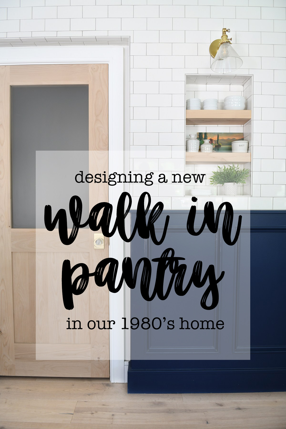 New walk in pantry